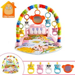 Wholesale Baby Games Music Kid Crops Toy Clothes Develop Mat with Piano Sewing Tape Early Education Rack Toys