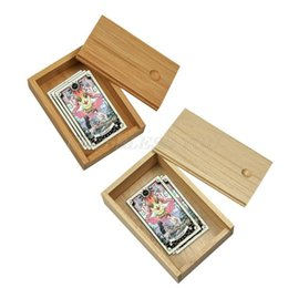 deck cards UK - Bamboo Cards Storage Box Desktop Wooden Poker Playing Card Box Case For Tarot Playing Games Table Board Deck Game Drop Shipping yxlvMy