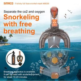 full dive mask NZ - SMACO 2020 New M8038 Diving Snorkeling Suit Protective Mask Full Face Diving mask Equipment Can be used with Oxygen Tanks1
