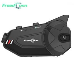 FreedConn Мотоцикл Группа Домофон Водонепроницаемый HD Lens 1080P Видео 6 Riders Bluetooth FM WiFi Шлем Шлем R1 Plus Recorder1 на Распродаже