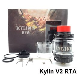 Discount rta atomizers Factory Price Kylin V2 RTA Tank 3ml 5ml Adjustable Atomizer 810 Resin Mouthpiece Clapton Prebuilt Coil For 510 Thread Vape Mod