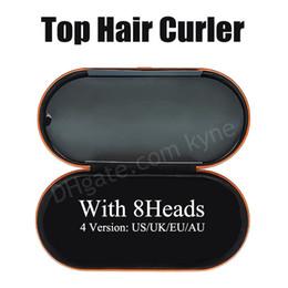Vente en gros UE / Royaume-Uni / US / AU 8HEIGES Courreur de cheveux avec boîte cadeau Dispositif de coiffure de cheveux multifonctions Fer à friser automatique pour la qualité des cheveux normaux