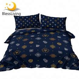Wholesale symbols japanese resale online - BlessLiving Asian Bedding Set Culture Symbol Duvet Cover Chinese Knot Quilt Cover Japanese Cherry Blossoms Bed Set Dropship fnA