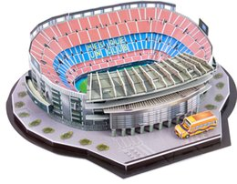 Classic Jigsaw DIY 3D Puzzle World Football Stadium European Soccer Playground Assembled Building Model Puzzle Toys for Children on Sale