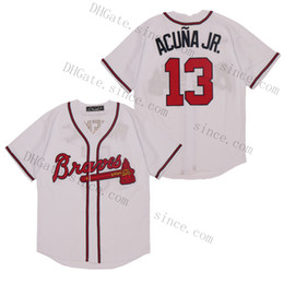 blank baseball jerseys NZ - Custom Any Name Number #13 Ronald Acuna Jr. Baseball 5 Freddie Freeman Blank no name no number Cool Flex Base Jersey Men Women Youth