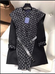 Wholesale women cape shawls resale online - HIGH end women girls HOODED WRAP COAT WITH BELT long sleeve coat jackets outerwear ponchos cape coats temperament cloak shawl coat