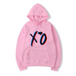Wholesale xo men online – design Xo The Weeknd Printed Hoodies Women Men Clothing Hooded Sweatshirt Kpop Tracksuit Harajuku Streetwear HoodieX1014