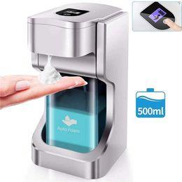 500ml Touchless Automatic Soap Foam Dispenser Auto Sensor Dispenser Automatic Liquid Soap Dispenser Hand washing hotel school home EWE2310 on Sale