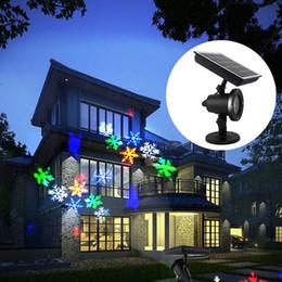 Перемещение снежинка света проектор солнечный светодиодный светодиодный лазерный проектор легкий водонепроницаемый рождественские сценические огни наружный сад ландшафт лампа-л на Распродаже