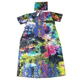 Wholesale embroidery for dresses resale online - MD bazin riche dashiki dress for women plus size african long dress african printed women s clothes embroidery pattern dresses