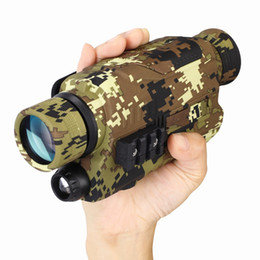 PJ2 5x32 Digital Monocular 200m Range Infrared Night Focusable Telescope Vision Camera for Hunting Telescope Military Tactical on Sale