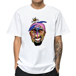 Wholesale tupac shirts resale online - 2019 new t shirt tupac Printed white T shirt Funny hip hop Tee shirt Casual Summer Tshirt men T shirt s Hipster men s tees Tops X1227
