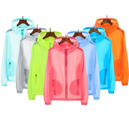 Wholesale beach sunscreen shirts for sale – plus size Fashion Nice Pop Genuine UV Sun Protection Clothing Transparent Long Sleeve Shirt Summer Beach Wear Sunscreen Anti UV Jackets Q1110