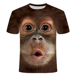 monkey t shirt design Australia - T-shirts 3D men women 2020 Summer Printed Animal Monkey T-shirt Short Sleeve Funny Design Casual Tops Tees graphic T-shirt