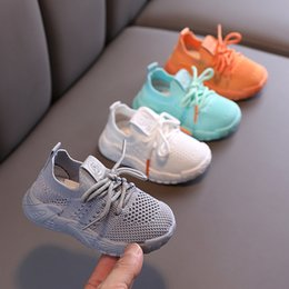 2020 New Autumn Baby Shoes Boy Girls Toddler Shoes Fashion Breathable Knitting Comfortable Casual 0-3 Year Infant Kids Sneakers LJ201104 on Sale