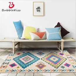 bohemian home decor NZ - Bubble Kiss Bohemian Multi-colored Geometric Pattern Carpet Home Non-slip Area Rug for Living Room Bedroom Decor Carpet Hot Sale