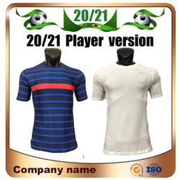 Wholesale star player online – design 20 Player version Euro France stars Soccer Jersey home GRIEZMANN MBAPPE POGBA Away white Soccer Shirt KANTE football Uniform