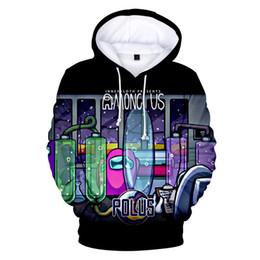 Men clothes 2020 New Game Among Us Hoodies Casual Pullover Streetwear Sweatshirt Sudadera Hombre Funny 3D Print boys jacket X1022