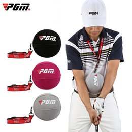 Wholesale golf swings for sale - Group buy PGM Inflatable Golf Smart Ball Trainer Portable Swing Arm Corrector Posture Auxiliary Correction Training Aids Golf Accessories