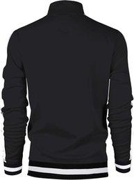 Wholesale rhinestone zipper cardigan resale online – Spring new mens jacket zipper cardigan stand collar slim jacket business casual mens size M XL