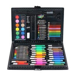 Coloriage Art Set 86pcs Dessin Pen Set Ensemble Aquarelle Art Papeterie Cadey Set Aquarelle Brosse Pensa Pensor Crayon pour enfants en Solde