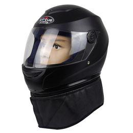 Wholesale Motorcycle helmet warm double mirror whole helmet winter new real person
