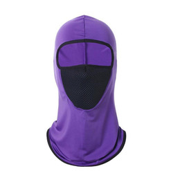 hooded winter mask UK - Dhl Shipping Windproof Bandana Hat Hooded Neck Winter Sports Breathable Face Mask Halloween Men Bike Motorcycle jllviJ yyysports