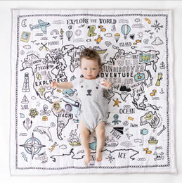 Baby Crawl Mats Carpet Infant Navigation Printing Blanket Cartoon Child Floor Mat Decorative Crawling Blanket Kids Room Floor Carpet LSK1554 on Sale