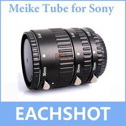 Wholesale MK-S-AF-A Metal Auto Focus AF Macro Extension Tube Set for Sony Camera Alpha A58 A65 A57 A77 A900 A55 A35 A700 A300 A100