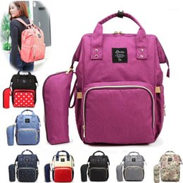 Wholesale Diaper bag Fashion Mummy Large Capacity wet bag tote waterproof Travel Backpack Nursing baby stroller mama for mom1