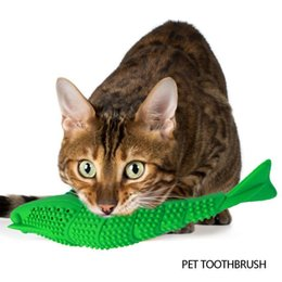 Discount tooth shape dental 2021 Cat Toothbrush Chew Catnip Toy Crayfish Shape Kitten Teeth Cleaning Dental Care Pet Teeth Cleaning Product