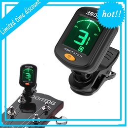 guitar tuner aroma NZ - AROMA AT-01A Portable Mini Clip-on Digital with Foldable Rotating Clip for Chromatic Guitar Bass Violin Ukulele Tuner