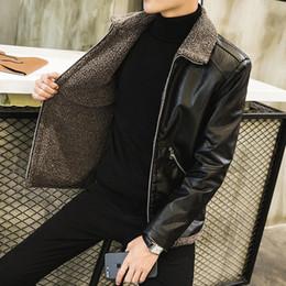 Wholesale genuine leather bomber men jacket resale online - WWKK New Men s Real Leather Bomber Jacket with Fur Collar Genuine Leather Pigskin Jackets Winter Warm Coat Men