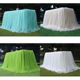 Ледяные шелковые десертные столы юбка занавес снежная пряжа свадебный день рождения торт проверить в столе сплошной цвет стола крышка окружающей среды красный новый 30LD M2 на Распродаже