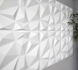Wholesale designing wallpaper resale online - Wallpaper decorative D wall paneling diamond design tiles square feet vegetable fiber WallStickers