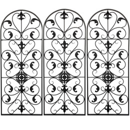 WACO Garden Home Decorative Fence, Spanish Arch Wall Screens Dividers Art Outdoor Coated Rustproof Metal Fencing Panel Animal Barrier Iron for Patio on Sale