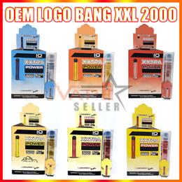 Wholesale OEM Customized E Cigarettes Bang XXL Disposable Vape Pen Device With 800mAh Battery 6ml Pods 2000 Puffs XXtra Vapors