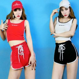 Wholesale costume jazz women for sale - Group buy Sexy Stage Outfit Women Bar Female DJDS Costume Jazz Dancer Practice Clothes Street Dancing Nightclub Shorts Suit DNV11988