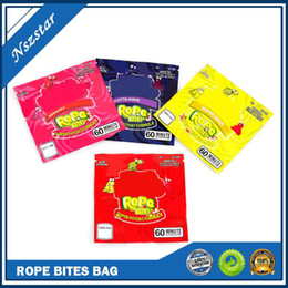 Wholesale Nerds Rope Bites Bag Newest Empty Square Gummy Medicated Mylar Bag Packaging Pouch for Storage Retail