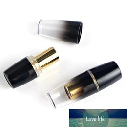 black cosmetic tubes 2021 - Gradient Black Lip Containers Maquillage Empty Sexy Waterproof Batom Lipstick Tubes Cosmetic Refillable Bottles 20pcs lot