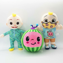venda por atacado 2021 US Stock Cocomelon travesseiro brinquedos macios para bebê pelúcia jj boneca educacional brinquedos recheados crianças presente bonito brinquedo chritmas presente atacado