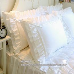 Literie Princesse en Serg/é Blanc Color : White, Size : 230 * 250 Version Cor/éenne De La Dentelle Blanche 1 Pi/èce ZYBIN Draps en Coton