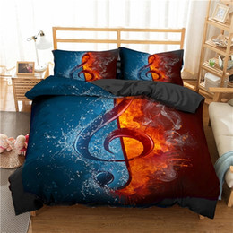 Wholesale guitar king for sale - Group buy ZEIMON Bedding Set d Music Note Printed Home Textiles Guitar Pattern Duvet Cover Set Luxury King Size Bedclothes