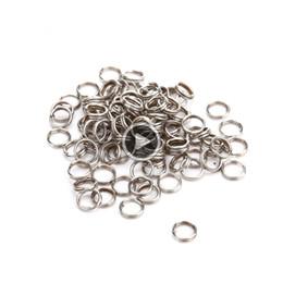 20 mm Llaveros de acero de alto carbono Anillos De Split resistente para equipo de buceo paquete de 10