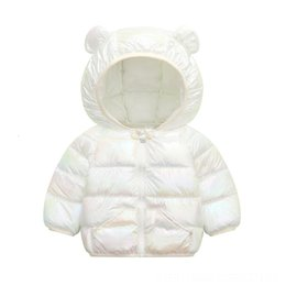 wholesale feather jackets UK - Duck jacket ISy child Children down Kids Girls Light Feather Jacket Jackets Down Hooded Outerwear Autumn 264JA