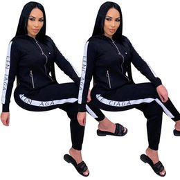 Discount volleyball hoodies womens long sleeve tracksuits jacket pants sportswear hoodie legging 2 piece set sweat suit outerwear pants outfits swea