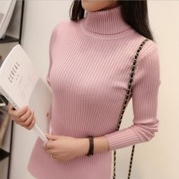 khaki double collar shirt Australia - Autumn And Winter New Two neck Collar Thick Warm Slim Sweater Womens High Collar Bottoming Shirt Long Sleeve