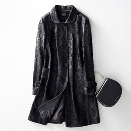 Wholesale ladies sheepskin coats jackets resale online - Autumn Spring Genuine Leather Jacket Female Casual Real Sheepskin Coat for Women Clothes Long Coats Ladies Jackets Outwear