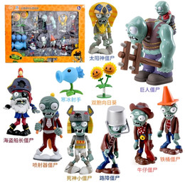 rubber puppets NZ - Hand-made Plants vs. Zombies Ten Piece Set Children's Toys Hard Rubber Zombies Christmas and Birthday Gift Toys Boys Like Toys 201202