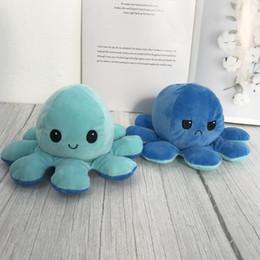 Плюшевые игрушки реверсивный флип осьминог плюшевые фаршированные игрушки мягкие животные дома аксессуары милые животные кукла детские подарки детские подарки плюшевые игрушки на Распродаже